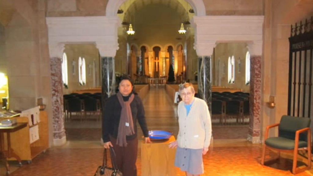 Visiting Sister Joseen